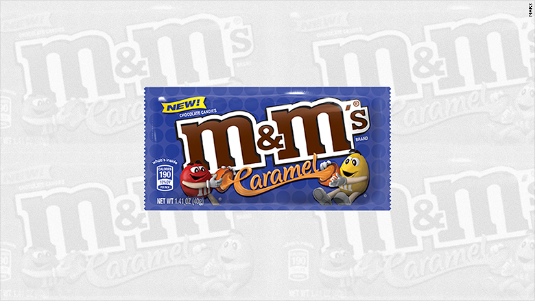 m and m caramel