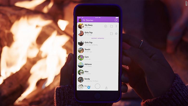 snapchat custom story