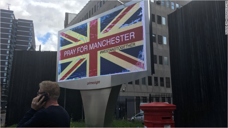 pray for manchester billboard attack union jack