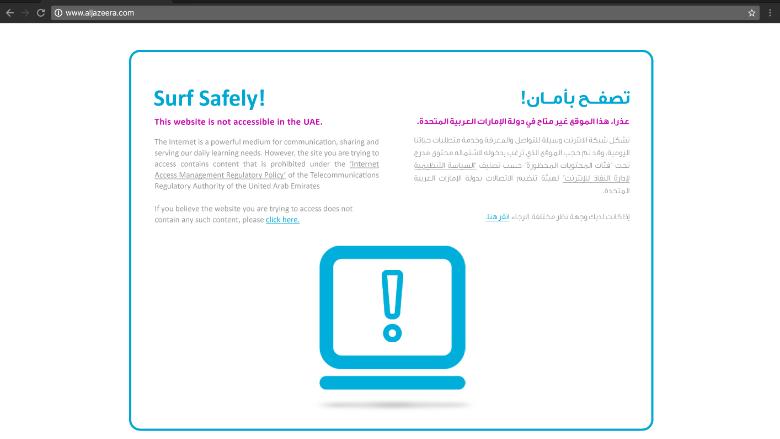 Al jazeera blocked by saudi arabia and the uae uae block al jazeera ccuart Image collections