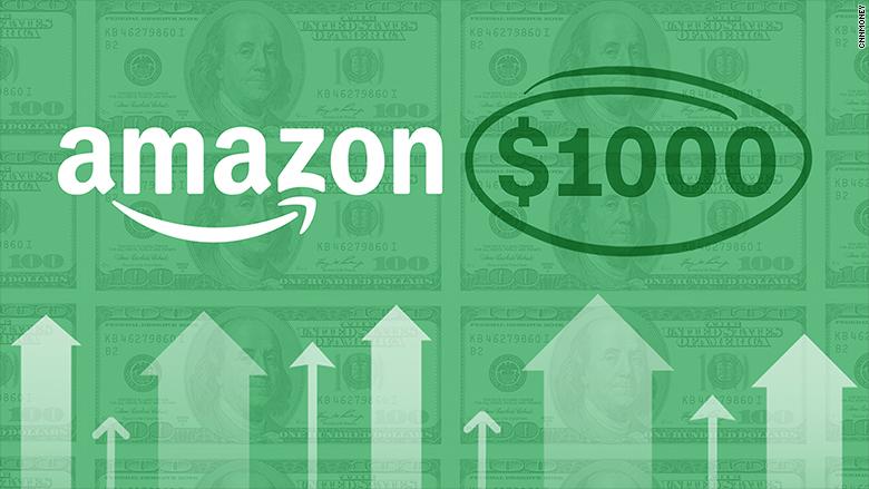 Amazon Stock Tops 1000