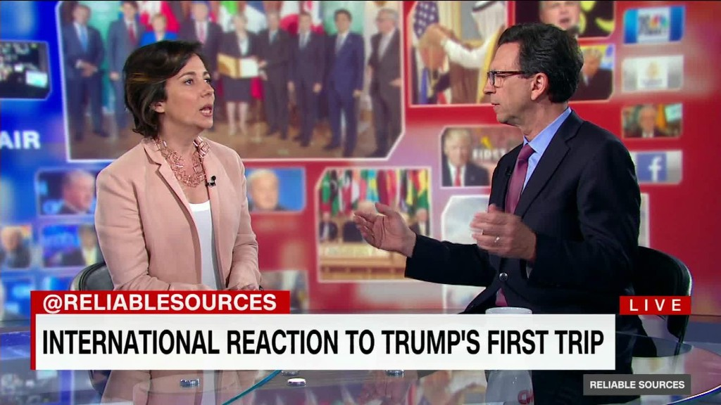 International reaction to Trump's first trip