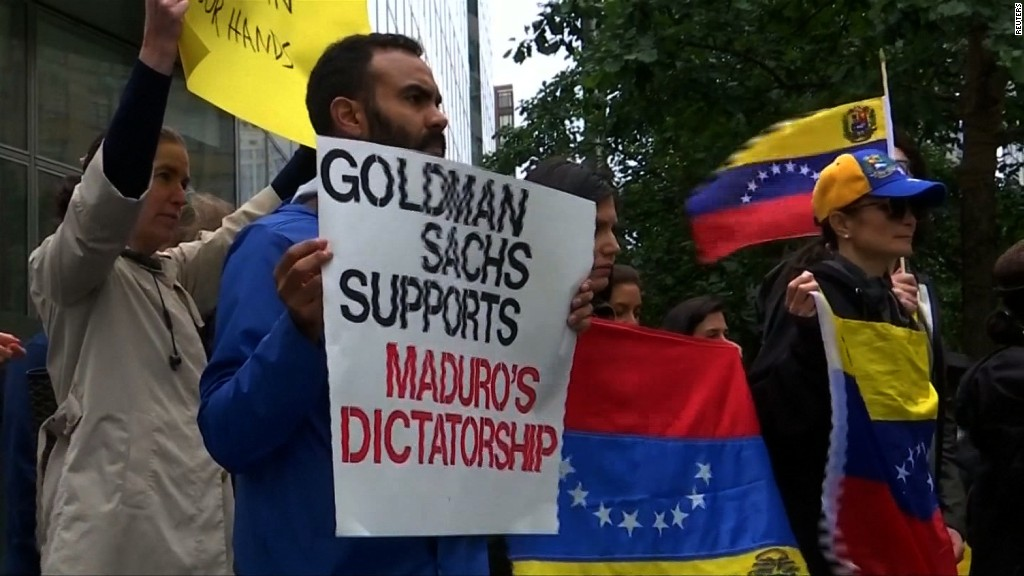 Goldman's Venezuela purchase 'morally indefensible'