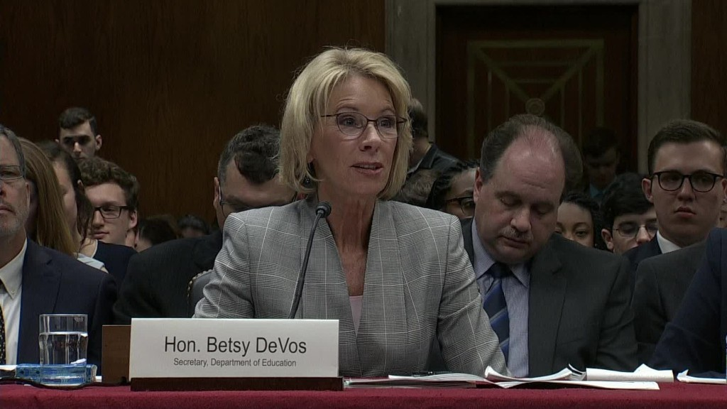 Betsy DeVos defends proposed student aid cuts