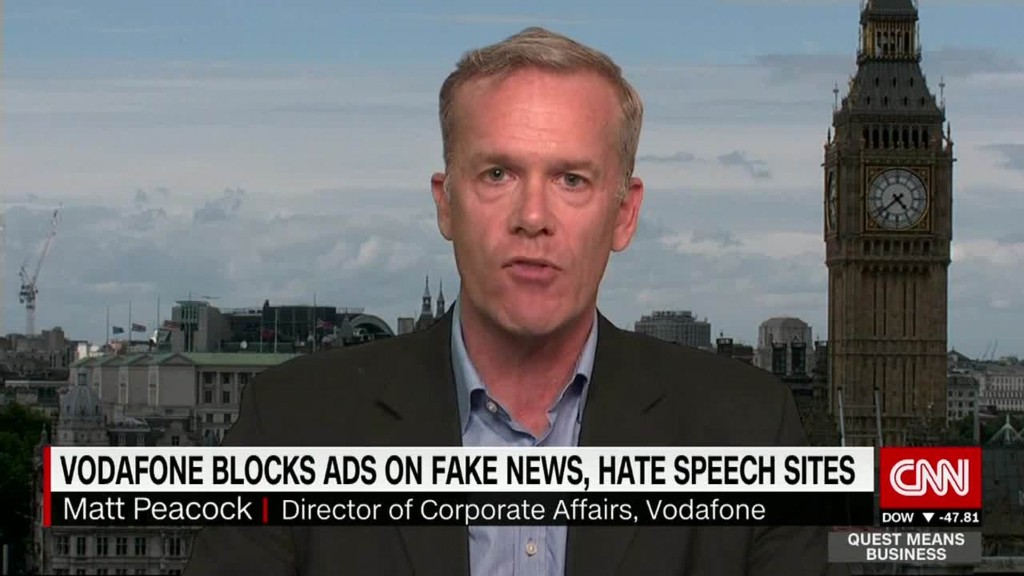 Vodafone to block its ads from 'fake news' stories