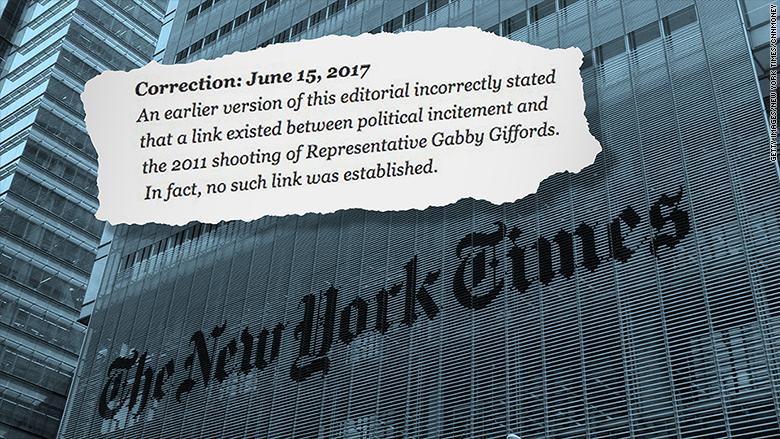 new york times correction
