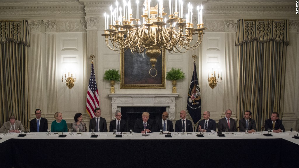 Top tech leaders meet with Trump