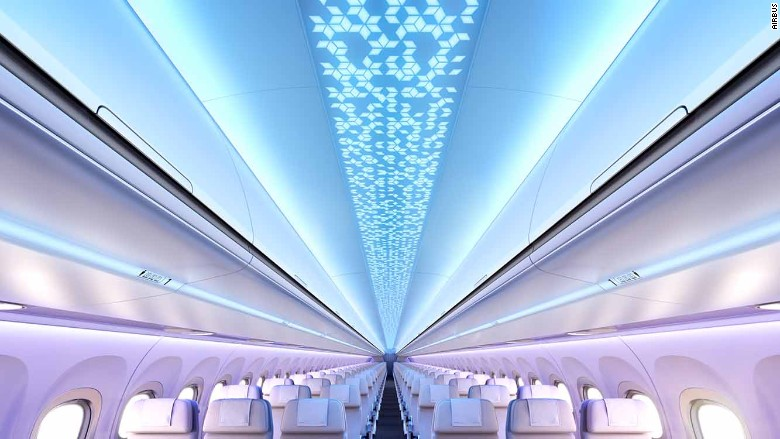 Airbus Airspace cabin interior ceiling economy class