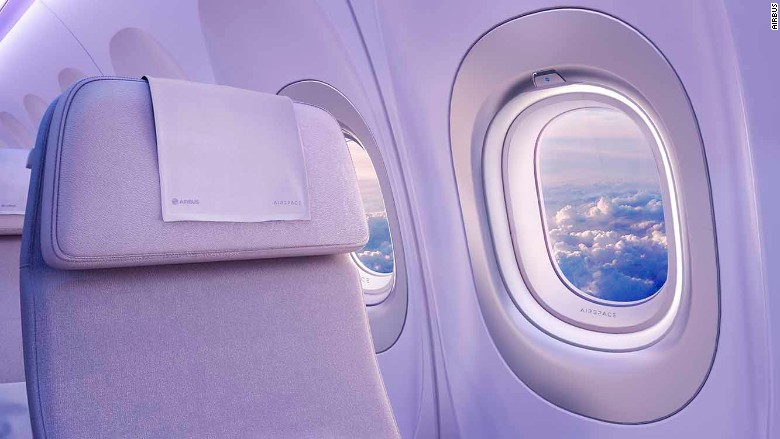 Airbus Airspace cabin design window