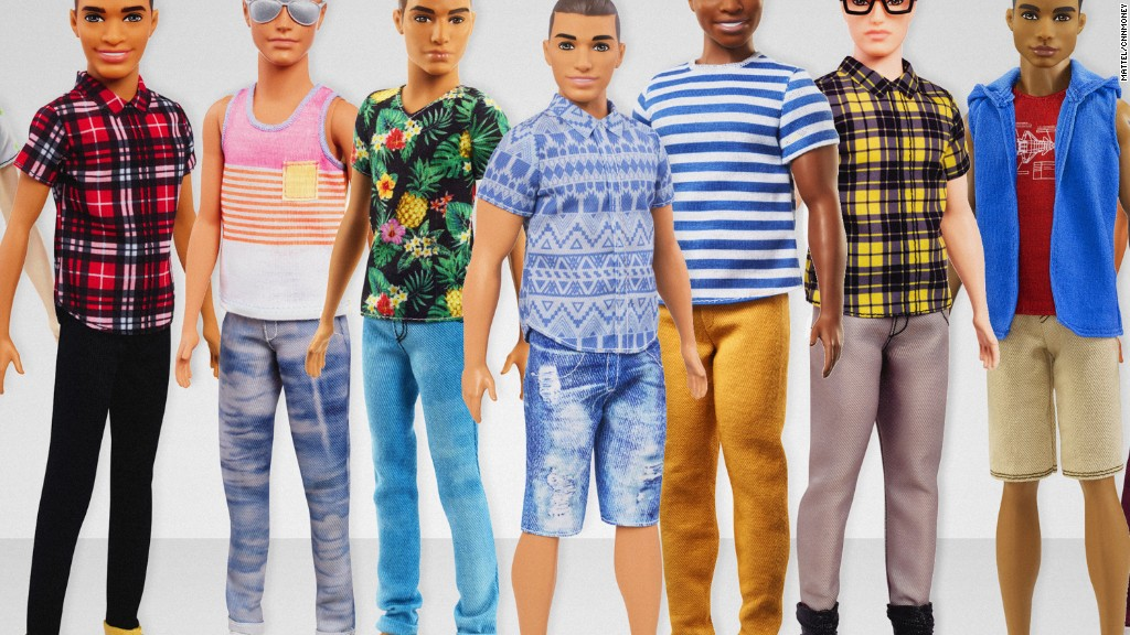 Barbie's boyfriend Ken gets diverse makeover