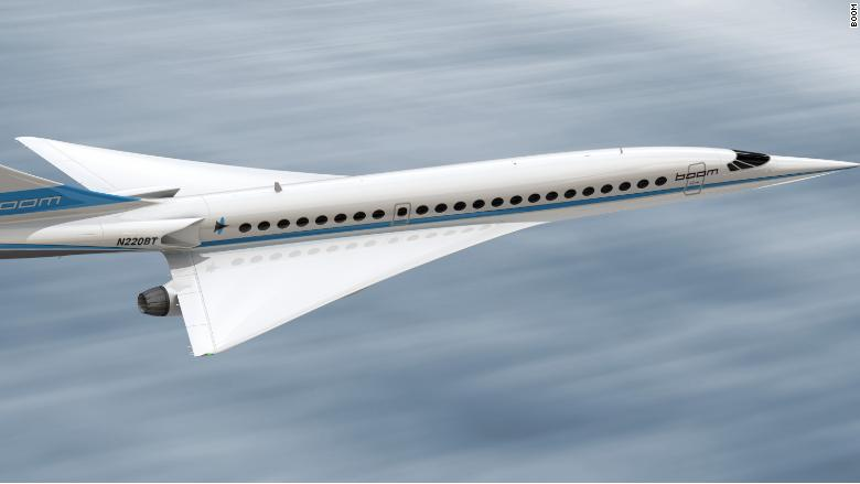 boom supersonic airliner artist rendering