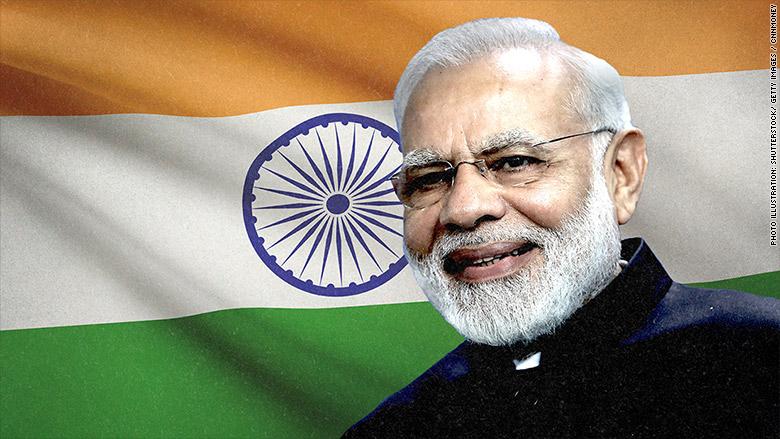 modi flag india