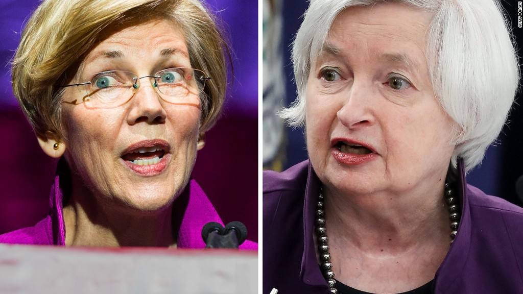Warren and Yellen spar over Wells Fargo