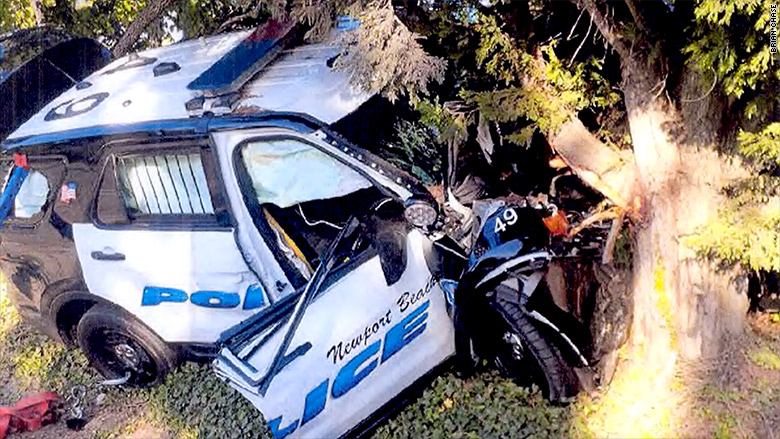 newport beach police crash