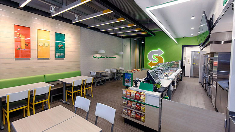 subway sandwiches interior