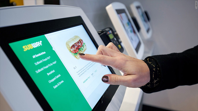 subway sandwiches order screen