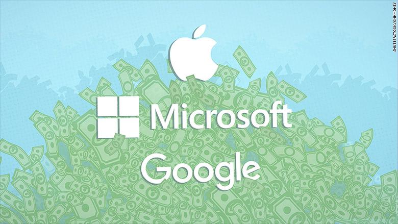 apple google and microsoft are hoarding 464 billion in cash