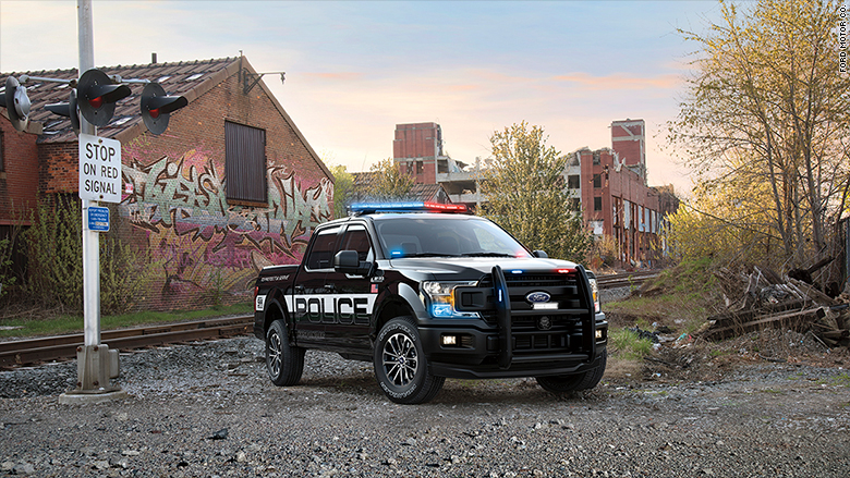 ford police f150 train track
