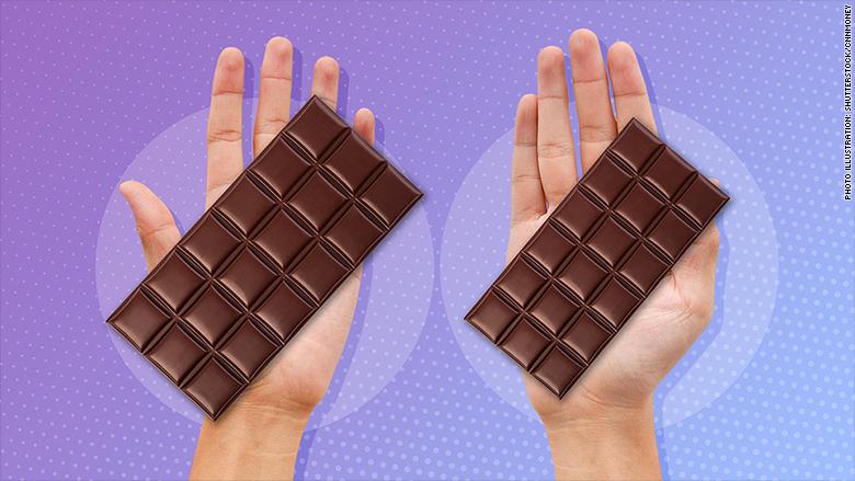 shrinkflation chocolate