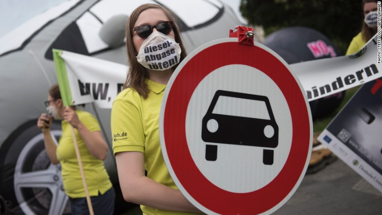Germany diesel protest