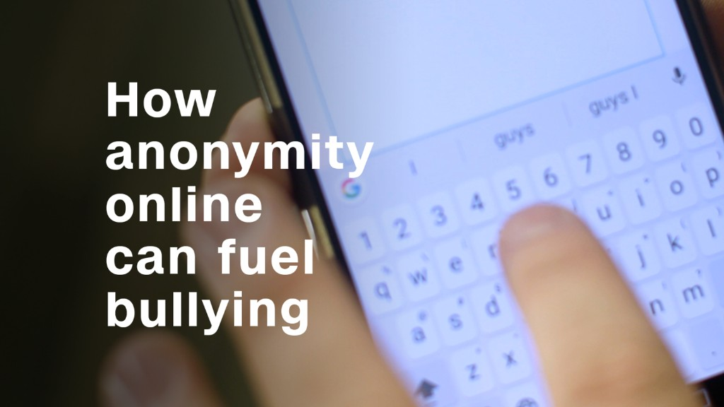 How anonymity online can fuel cyberbullying