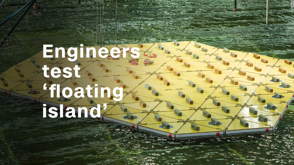 Dutch engineers test 'floating island'
