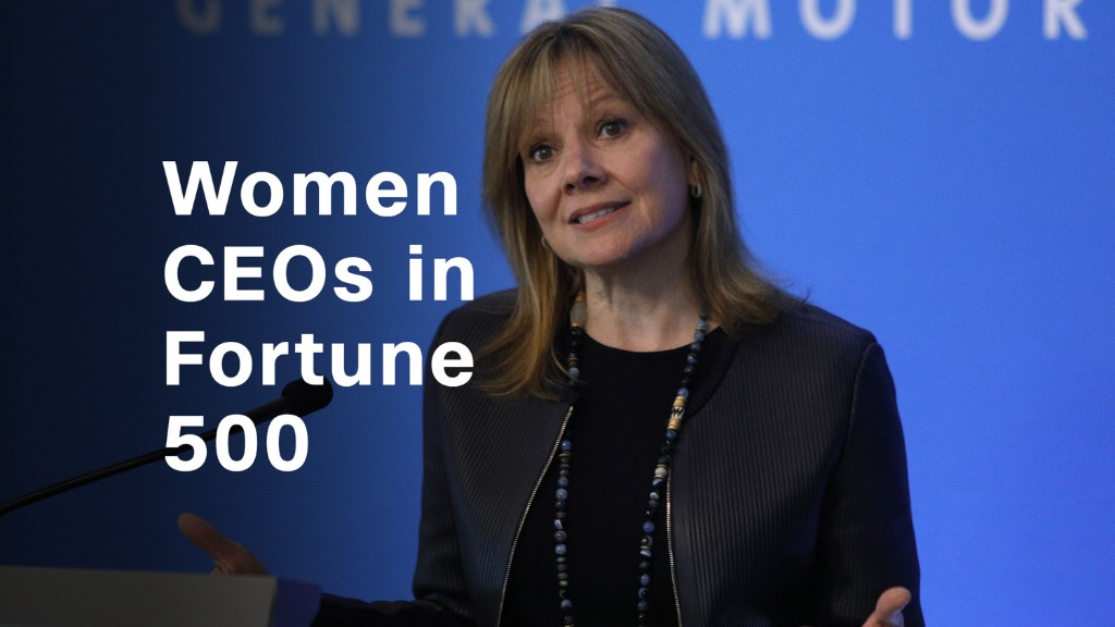 Fortune 500 female CEOs: Growing in number, but still rare