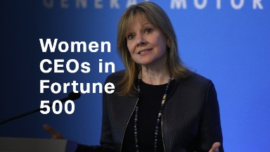 The number of female Fortune 500 CEOs is shrinking
