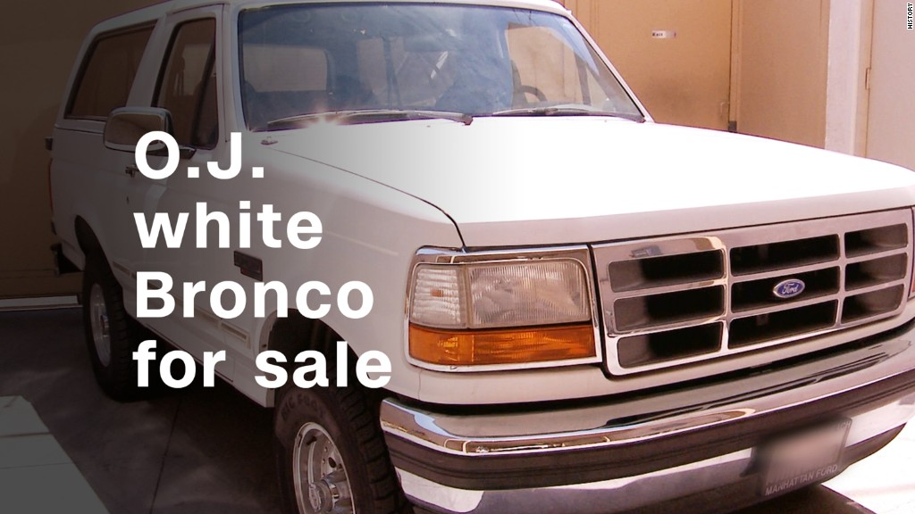 The infamous O.J. Simpson white Bronco is for sale