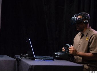 58ad1ea2e11c A UPS driver takes part in virtual reality training.
