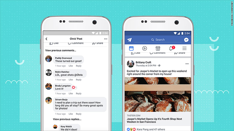facebook design tweaks update