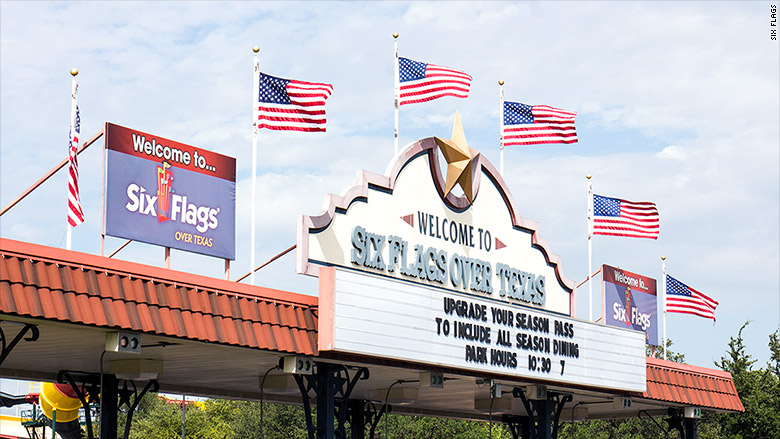 six flags over texas american flag