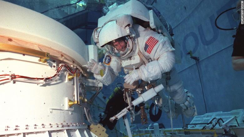 Daniel Barry Astronaut Underwater Training