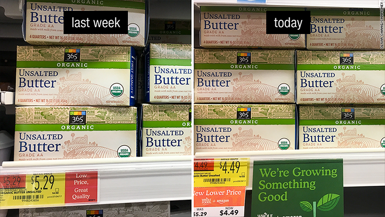 whole foods price drop butter