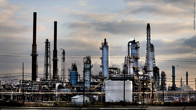 Huge Exxon Oil Refinery Damaged By Heavy Rain From Harvey