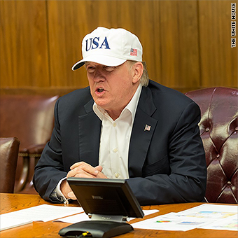 53f509901a948 He was pictured wearing the hat in red in a photo distributed by his press  office on Sunday .