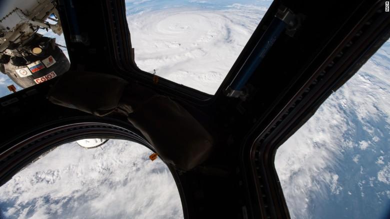 Hurricane Harvey International Space Station