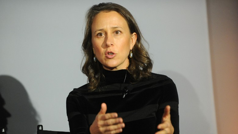 23andMe CEO Anne Wojcicki speaks on stage during 'The Fast Company Innovation Festival' - Data + Drugs: The New Evolution Of Drug Making With 23andMe And Sprout on November 10, 2015 in New York City.