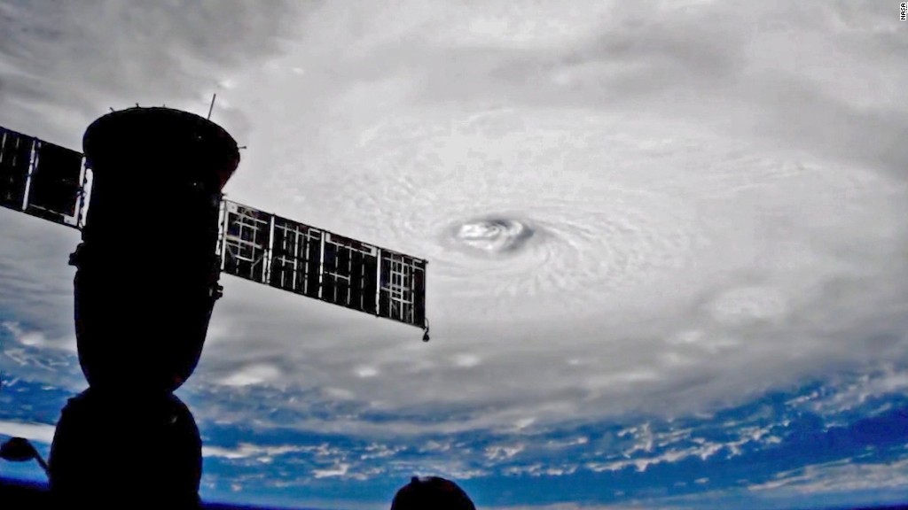 Space station gets a look at Hurricane Irma