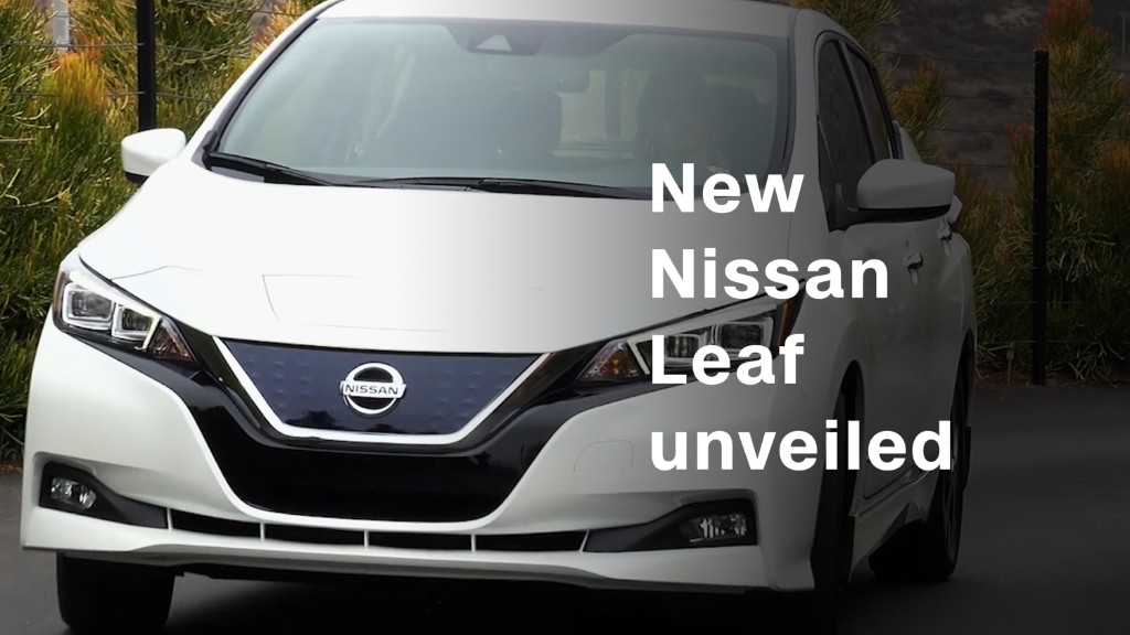 Nissan unveils new electric Leaf model