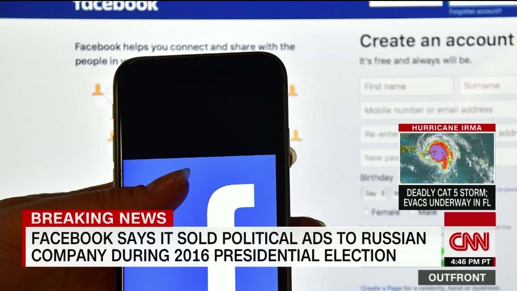 Facebook sold ads to Russian-linked accounts during election