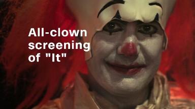 Inside an all-clown screening of 'It'