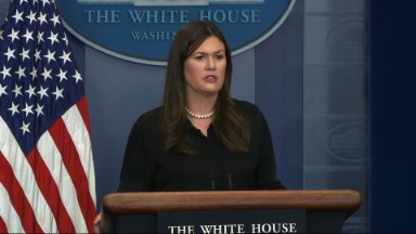 Sarah Sanders warns CNN's Jim Acosta: Ask Trump a question, it could cost you