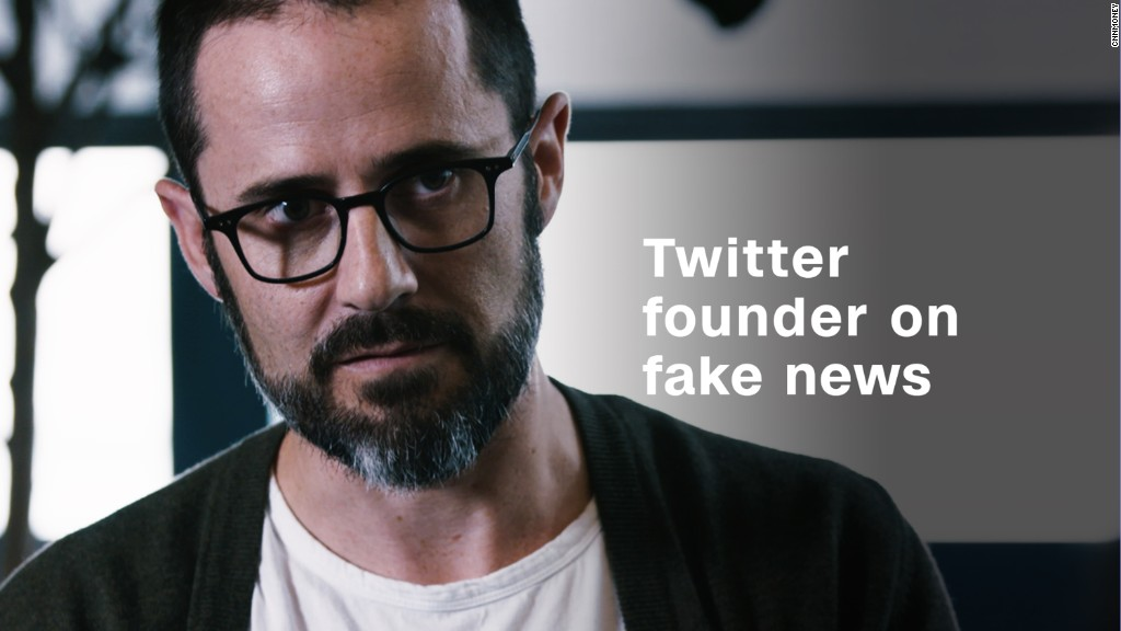 Twitter, Medium founder: Tech companies unintentionally funding fake news