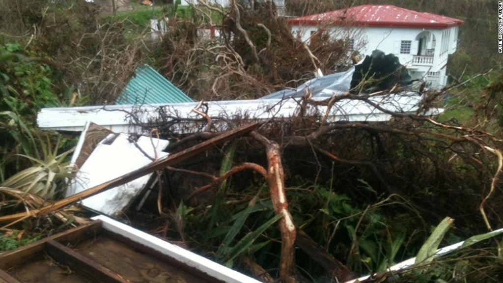 Hurricane Maria leaves trail of devastation