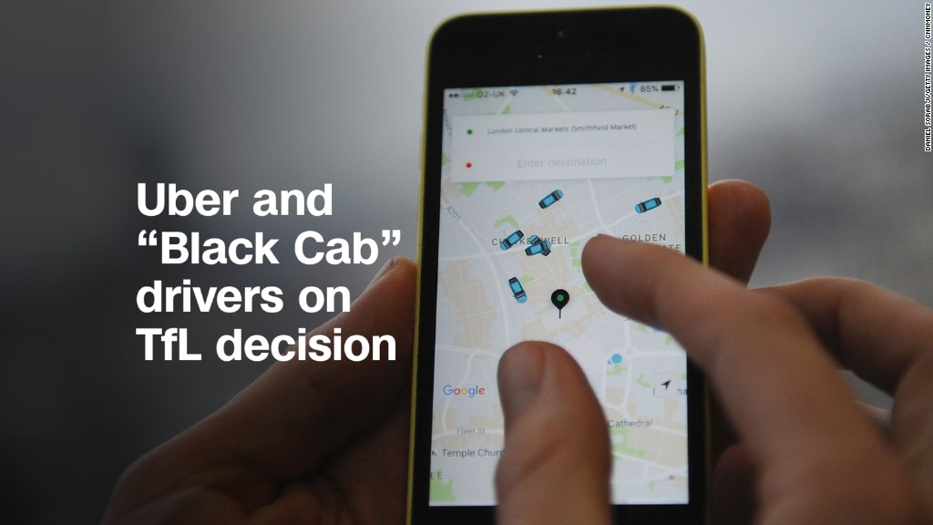 Uber and 'Black Cab' drivers on ban decision