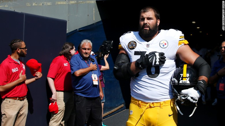 nfl national anthem protest villanueva