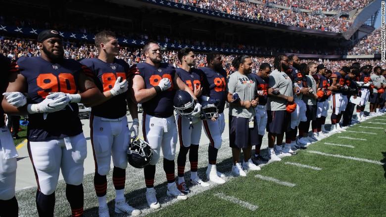 Steelers Locker Room National Anthem