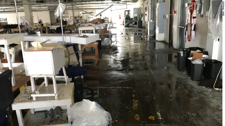 Bluewater Defense hurricane damage