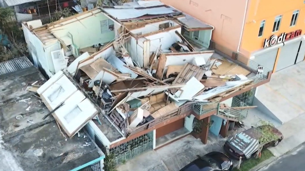 Scenes of devastation across Puerto Rico